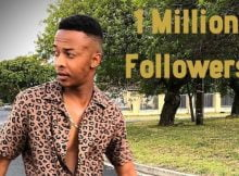 Oros Mampofu hits 1 million followers