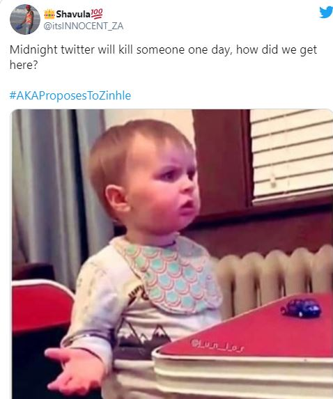 aka and dj zinhle tweet